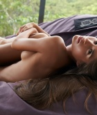 Nessa Devil, brunette, nude, pose, bean bag