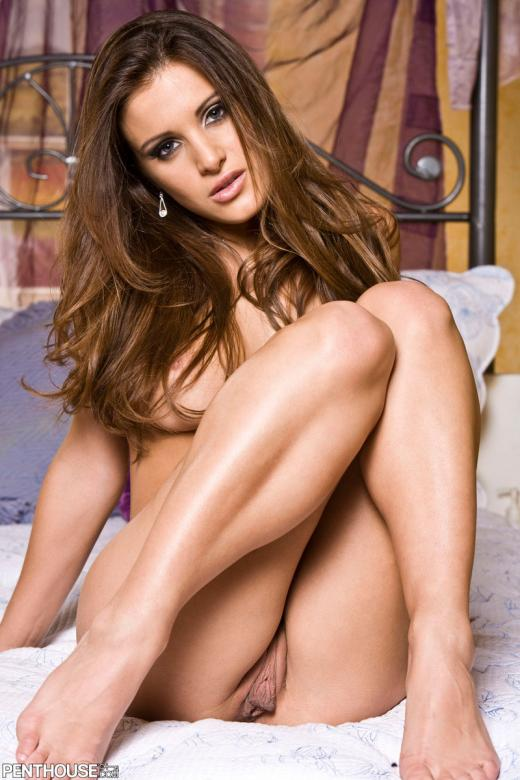 Andie Valentino, brunette, strip, lingerie, bed