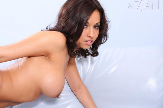 Lana Lopez, brunette, strip, latin, couch