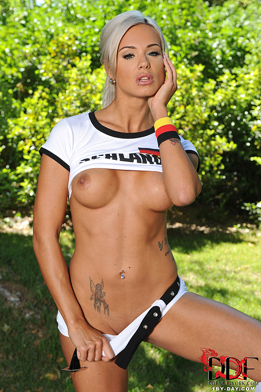 Ashley Bulgari, brunette, strip, nude, ass, soccer