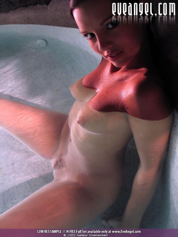 Eve Angel, brunette, strip, water,