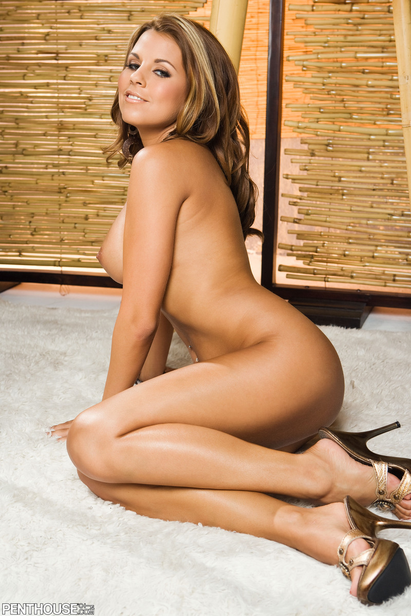 Nicole Graves, brunette, strip, pole, chair, thong