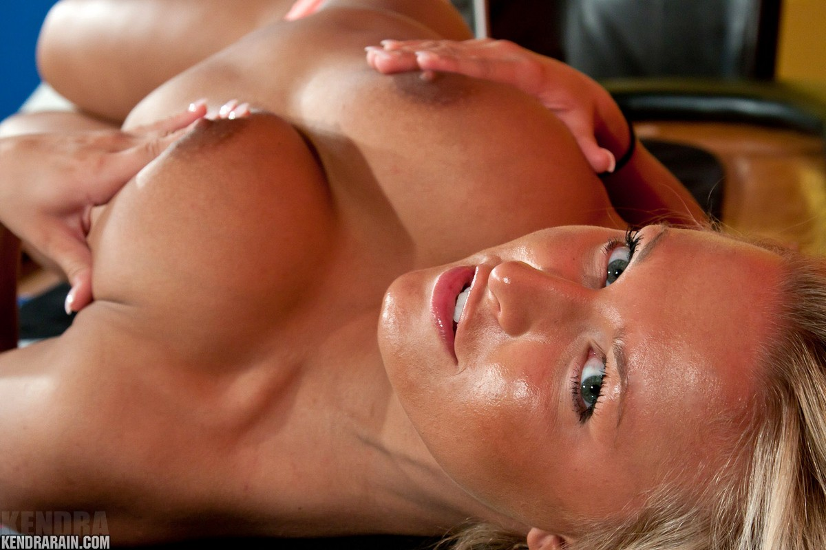 Kendra Rain, blonde, strip, topless, poker, table, ass