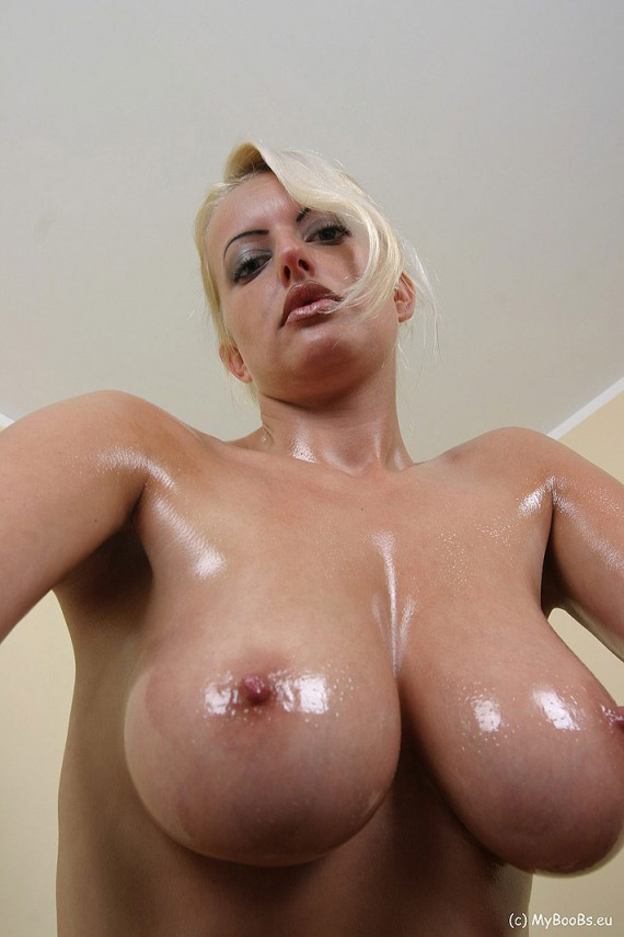 Busty Oily Boobs