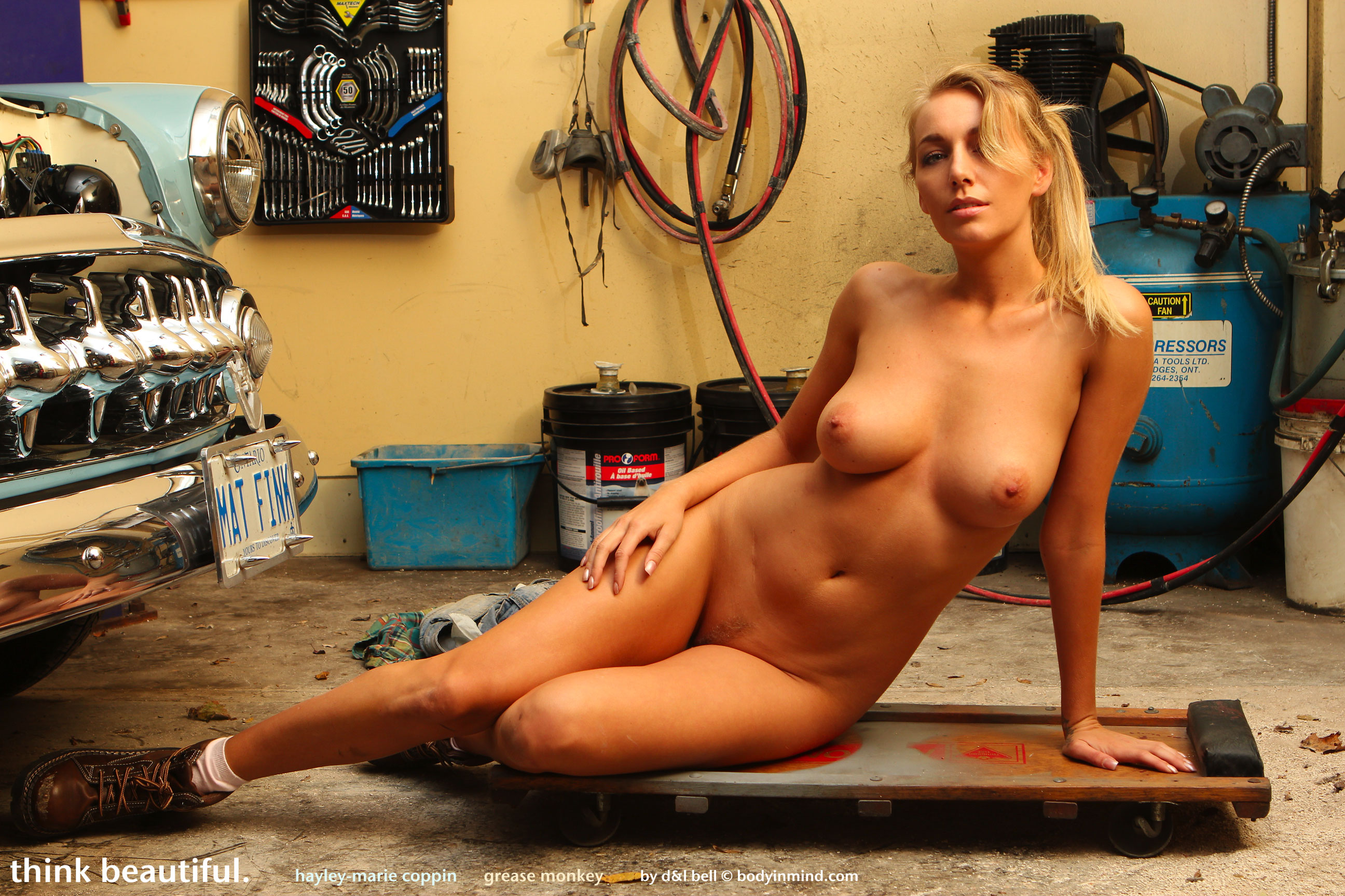 Girl Mechanic Nude hayley marie the stripping mechanic - sexy gallery full
