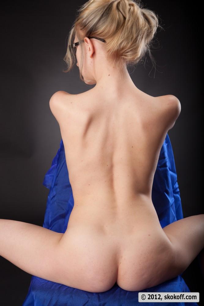 Naked old blonde teacher