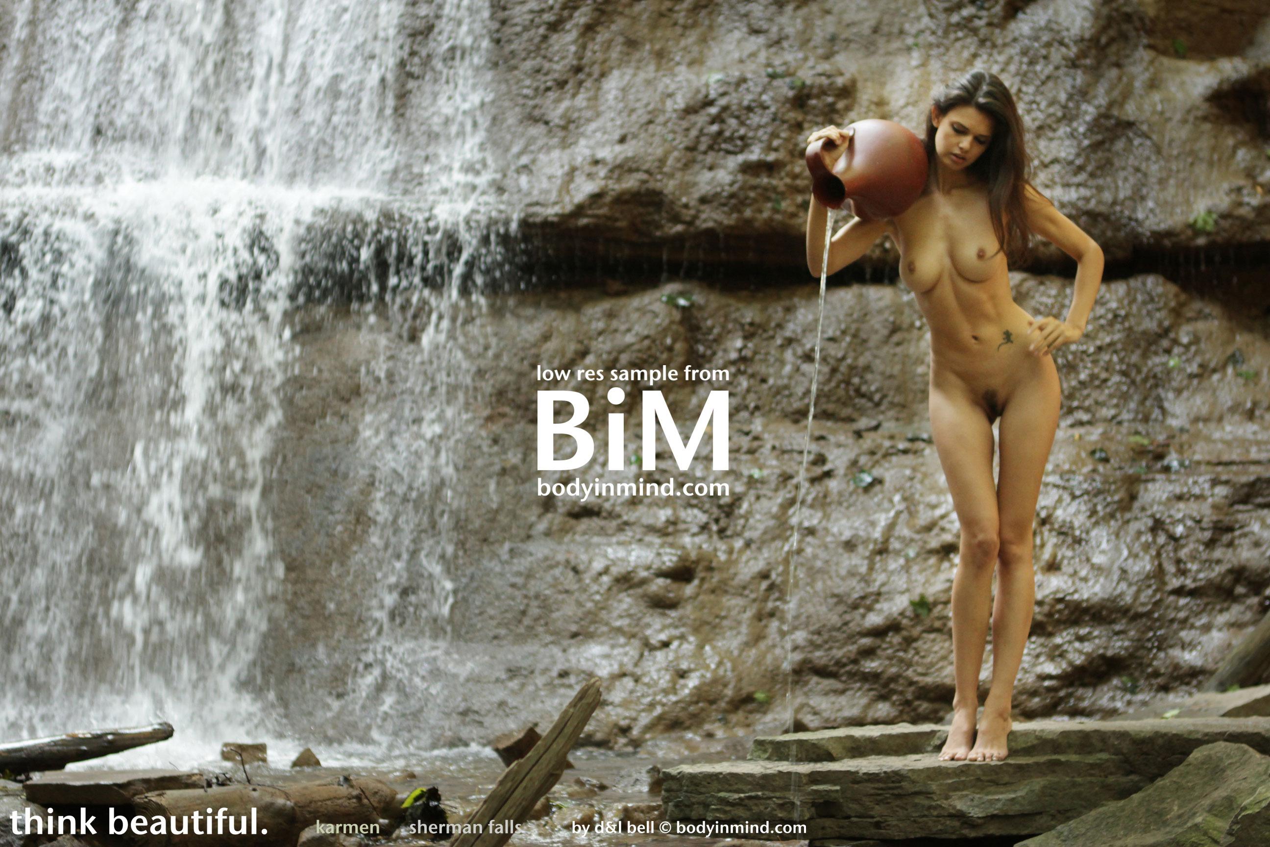 Cosma nude girls next to waterfall teen first