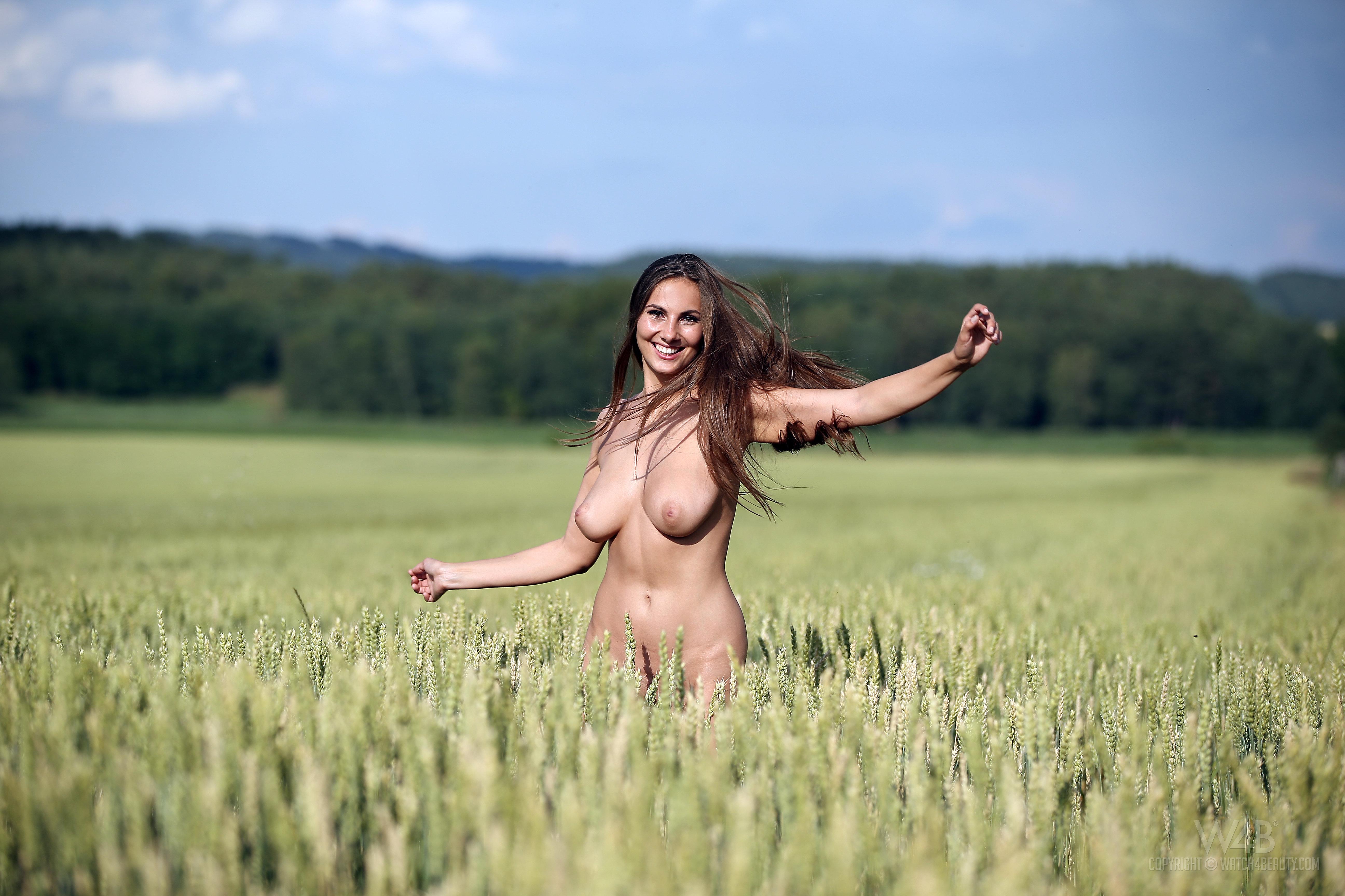 skipping Jumping nude porn woman running