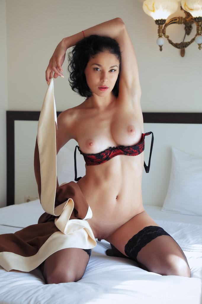 Lingerie strip nude